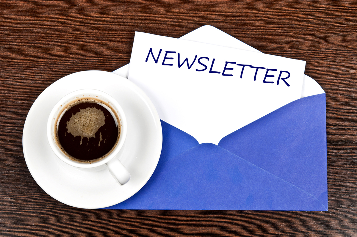 real estate newsletter and coffee